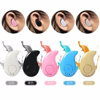 Wholesale Super Mini Cell Phone - Mini Bluetooth 4.0 Earphone Stereo Light Wireless Invisible Headphones S530 Super Headset Music answer call Hot selling DHL Freeshipping