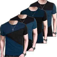 Wholesale Mens Striped Long Sleeve Shirts - 2017 Fashion Mens Striped T Shirt Slim Fit Crew Neck T-shirt Casual Short Sleeve Crew Neck tshirt Tee Tops TX116 RF
