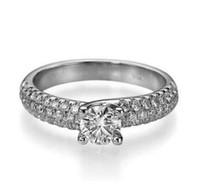 Wholesale Si Diamond Ring - ROUND CUT 1.4 CT G SI BRIDAL DIAMOND ENGAGEMENT WHITE GOLD RING