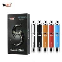 cigarro de 5 cores venda por atacado-Yocan eVolve Plus Wax Caneta Kit 100% Original Cigarro Eletrônico 1100 mAh Evoluir Além disso Vaporizador com Quartzo Dupla Bobina 5 Cores DHL Livre