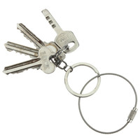 Wholesale Organize Tools - 5 Styles Stainless Steel Wire keychain Cable Key Ring Twist Barrel Ultra Strong Organizing Tools EDC Outdoor Use A462