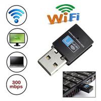 adaptador usb wong dongle usb venda por atacado-Mini 300 M USB WiFi adaptador Sem Fio wi-fi dongle Placa de Rede 802.11 n / g / b wi-fi Adaptador LAN RTL8192 rtl8192cu / ue