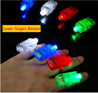 LED Finger Lamp Dedo Anel presentes Luzes Glow Laser Finger Beams LED anel intermitente Party Flash Kid led Brinquedos 4 cores b1472
