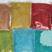 Wholesale Diy Decoration Accessories - 24 Laser Holographic Colors 0.1MM fine Glitter Powder for nail decoration and others DIY Accessories