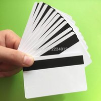 Wholesale Track Magnetic Card - Wholesale- Free Shipping 50PCS Lot ISO 2750 3000 4000 OE 3 Track Hi Co Magnetic Stripe Smart Blank PVC Card