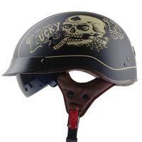 Wholesale helmet motorcycle sale - Hot sale TORC T55 vintage half face motorcycle helmet vespa retro open face bicycle helmets DOT capacete casco casque moto