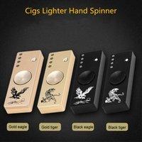 Flash LED Cigarette Lighter Hand Spinne Metal Fidget Spinner Multi-fonction USB Rechargeable Plus léger Finger Gyro Toy avec Pack de vente au détail