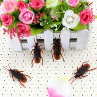 Wholesale Cockroach Novelties - 10 pcs set Halloween Jokes Gags Pranks Maker Trick Fun Novelty Funny Gadgets Blague Tricky Toy Simulation False Cockroach Toys