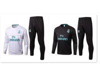 Wholesale Bale Clothes - 2017 2018 top quality real Madrid training clothes 17 18 RONALDO Sergio Ramos white black BALE MARCELO ISCO MODRIC training suit Real Madrid