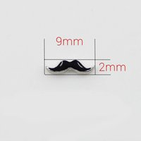Wholesale Mustache Gold - 20pcs lot DIY ALLOY mustache 2*9mm floating charms for glass memory lockets good quality and free shipping