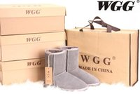 Wholesale womens fashion warm winter boots resale online - 2019 Christmas sale Australian fashion WGG Boots Winter Snow boots sexy WGG Womens snow boots Winter warm Boot cotton shoes