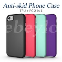Wholesale Hybrid Football Case - For iPhone 6 6S 7 Plus TPU & PC 2-In-1 hybrid Case Shockproof Anti-Skid Cases Football Skin Back Cover For Samsung S6 S7 Edge