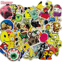 Mixed 50 Pcs Horror Nausea Bloody Stickers pour Graffiti Bike Laptop Fridge Skateboard Funny DIY Sticker Auto Styling JDM Decals