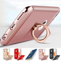 Wholesale Thin Metal Rings - Ultra Thin Shockproof Hybrid Rubber TPU Case Cover Finger Ring For Apple iPhone 7 Plus 6 6S Plus