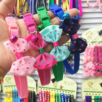 Wholesale Mardi Gras Necklaces - Shipping pet dog dog Decal chain traction rope chain necklace Teddy Bichon Puppy Cat bell chain