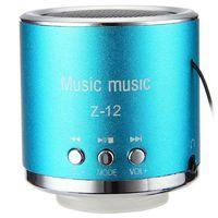 Wholesale Mini Sound Box Boombox Mp3 - Mini Portable Speaker FM Radio Z12 Cylinder Music Audio Receiver Soundbar Sound Box Boombox Hoparlor Support TF Card MP3 Player