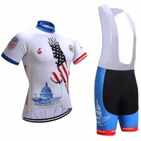 Wholesale Usa Sports Wear - 2017 USA Cycling Jerseys bib shorts set Bicycle Breathable sport wear cycling clothes Bicycle Clothing Lycra summer MTB Bike