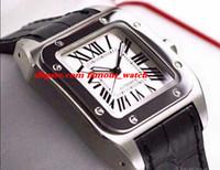 relógio de marca prata venda por atacado-Nova moda marca new hot vender dos homens 100 xl w200737g aço inoxidável luxo prata movimento relógios de pulso mens relógio mecânico automático