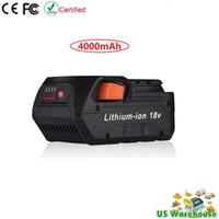 Wholesale 18v Tool Battery - 18V 4.0Ah Lithium-Ion Battery for RIDGID 18Volt Cordless Power Tools R840087 R840085 R840083