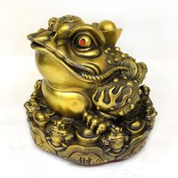 Wholesale Cabinet Foot - Lucky three feet toad ornaments boutique exquisite living room wine cabinet desk decorations modern Chinese gold toad