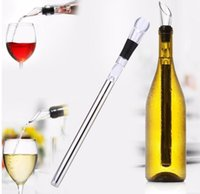 Wholesale Stainless Pourer - Stainless Steel Wine Cooling stick Corkcicle White Red Wine Chiller Cooling Stick Ice Wine Sticks Pourer KKA1810