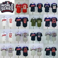 Wholesale Indian Series - 2016 World Series Patch Francisco Lindor Jersey 12# Cleveland Indians Jerseys Jason Kipnis Michael Brantley Corey Kluber Edwin Encarnacion