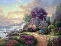 Wholesale modern art oil paintings for sale - A New Day Dawning Thomas Kinkade Oil Paintings Art Wall Modern HD Print On Canvas Decoration No Frame
