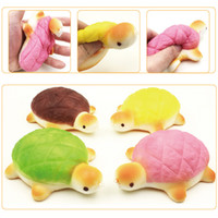 Wholesale Tortoise Toys - Slow Rising Jumbo Squishy 13cm Tortoise Phone Charms Strap Bread Squishies Kids Toys Gift Free Shipping