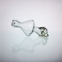 Wholesale Holding Glasses - Glass Pipes Tornado Hand-held Pipe Smoking Accessories for Herb 5 Inches Clear Heavy Pipe Free Shipping