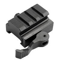 adaptador para elevador al por mayor-Envío gratis Tactical QD Mount Adapter Picatinny Rail Rifle Scope Sight Riser monta con liberación rápida