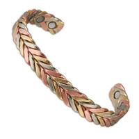 Wholesale Magnet Health Bracelets - anti arthritis rheumatism Ideal gift New Arrival health pure men 6 magnets magnetic copper bracelet