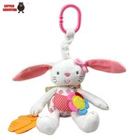 Vente en gros- 0+ Baby Toy Soft Rabbit Bunny Peluche en peluche Baby Crib Bed Hanging Animal Toy Teether Multifunction Doll Kids Toy