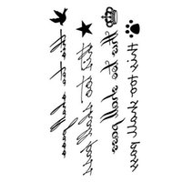 Wholesale Sexy Sticker Water Transfer Tattoo - Wholesale-2016 New Letter Water Transfer Waterproof Temporary Tattoo Sticker Body Art Sexy Product