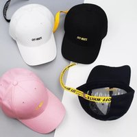 Wholesale OFF WHITE Classic letter embroidery New streamers Curved canopy Personality street baseball cap Tide brand hot Fashion shade hat