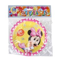 Wholesale Birthday Paper Plates Wholesale - Wholesale-6pcs 7Inch Baby Minnie Mouse Cartoon Pattern Theme Paper Party Plates Birthday Party Supplies for Kids Party Decoration