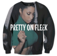 Wholesale Pretty Prints - Newest Fashion Womens Mens Nicki Minaj Pretty on Fleek Summer Style 3D Print Harajuku Casual Crewneck Sweatshirt Plus Size