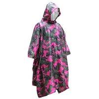 Wholesale Camo Camp Coats - Multifunction Outdoor Travel Impermeable Camo Raincoat Waterproof Rain Coat Men Women Motorcycle Rain Poncho for Camping Fishing
