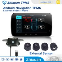 Wholesale Tpms For Car Dvd - china tpms factory car tyre pressure monitoring system with 4external sensors USB connect android 4.0 car DVD navigation test tire states