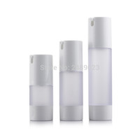 Wholesale Lotion Bottle Containers - 15ml 30ml 50ml Airless Bottle Frosted Vacuum Pump Lotion Refillable Bottles Used for Cosmetic Container 10pcs lot