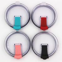 neue plastikflaschendeckel großhandel-Klappdeckel für 30 20 Unzen Becher Becher neue Kappe Schrägstrich resisitant klare und bunte Flaschenabdeckung