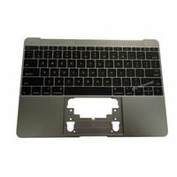 üst klavye toptan satış-Yeni A1534 Macbook için ABD Klavye ile Topcase 12 '' MF855LL / Bir MF865LL / Bir 2015 2016 Yıl Uzay Gri
