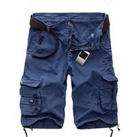 Wholesale Men Camouflage Cargo Shorts - Wholesale-Plus 29-40 Cargo Shorts Men Camouflage Summer Hot Sale Cotton Casual Men Short Pants Camo Clothing Fashion Men Cargo Shorts