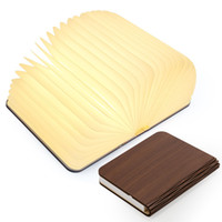 Wholesale Usb Gif - Wooden Folding Book Light, Magicfly USB Rechargable Book Shaped Light 4 Colors Led Desk Table Lamp for Decor, Magnetic Design- Creative gif