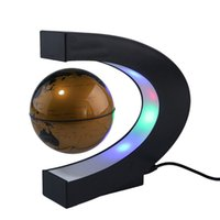 Wholesale Bulb Desk Lamp - LED Magnetic Suspension Toy Globe Levitation Floating Globe Lead Light Desk Lamp Holiday Lighting for Christmas Halloween Decor