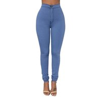 Wholesale Women s Candy Pants Plus Size Pencil Trousers Spring Fall Black Stretch Pants For Women Slim Ladies Jean Trousers Female
