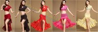 Wholesale Belly Dance Practice Wear - wear styles lace Belly Dance dress tops skirt set Sexy Dancer Practice Costume Set Jazz Latin dance Clothes Performance Suit