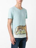 Wholesale T Shirt Plus Size Tiger - New Arrival 2017 Men T-Shirt tiger Print Short Sleeve T Shirts Men Slim Plus Size XXL T-Shirt U12