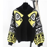 Wholesale Cotton Garter Belt - Style Fall Winter HARAJUKU Multicolour half TurtleNeck Knitted top Women Sweaters and Pullovers Female Knitwear