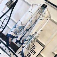 Wholesale Ladies Leopard Print Scarf - 2018 women fashion luxury brand satin scarves silk scarf leopard ladies scarfs shawls foulard femme schal luxus marke fulare mujer echarpe