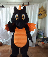 Wholesale Black Dragon Mascot Costume - black dragon mascot costume custom black dinosaur black dino cartoon character cosply adult size carnival costume 103
